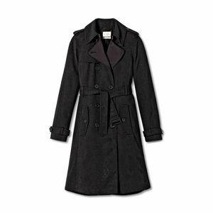 Altuzarra Snakeskin Trench Coat - Black, Medium